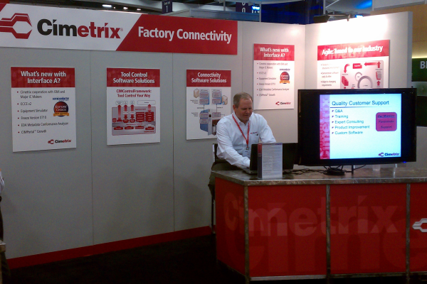 Cimetrix booth at SEMICON West 2011